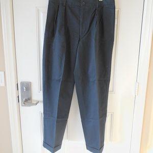 Nautica Spinnaker Pleated Pants Navy Blue 35x32